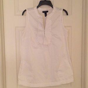 Alfani White Sleeveless Tunic Top with Pockets